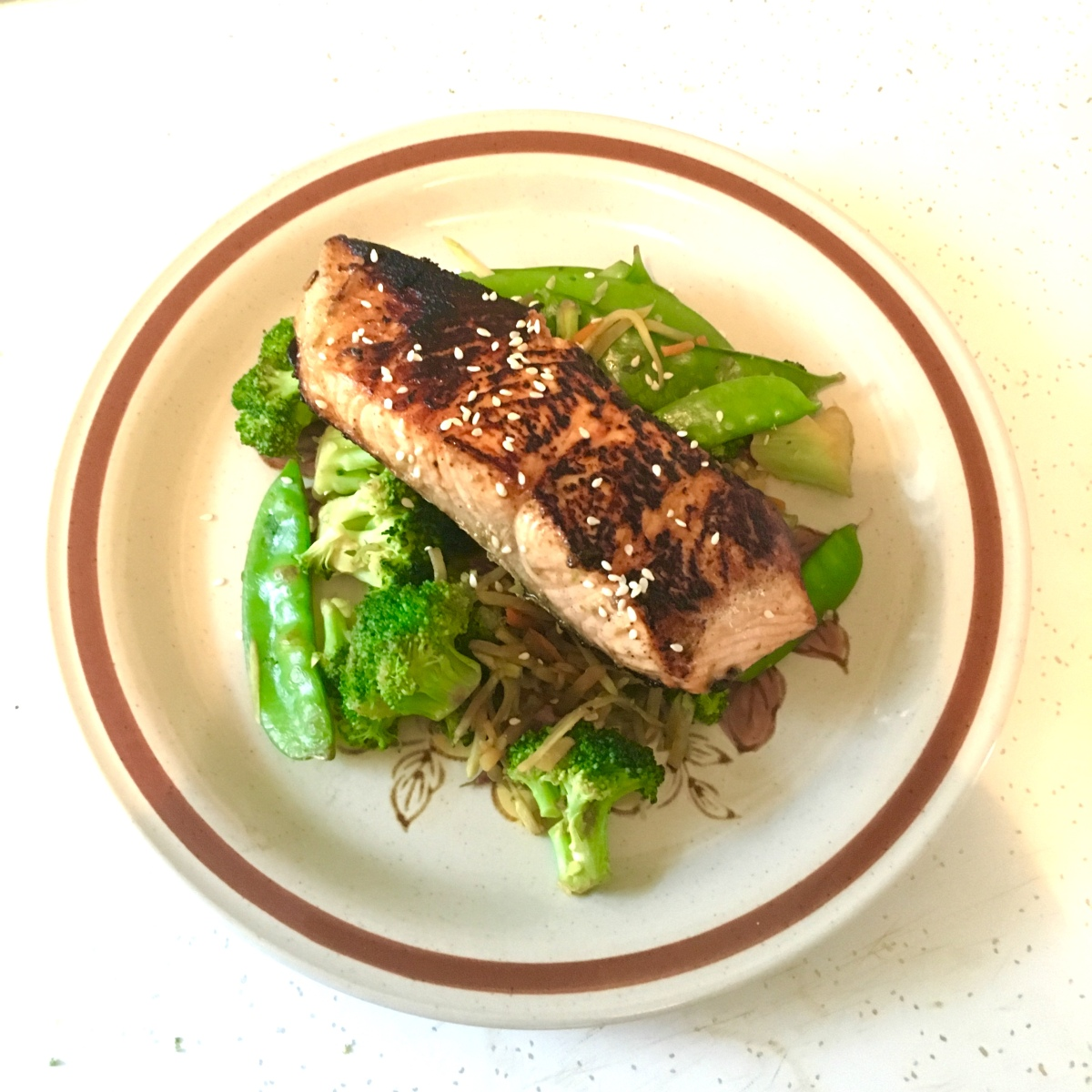 Asian-Inspired Crispy Salmon With Sesame Stir-Fry  Danika -3590